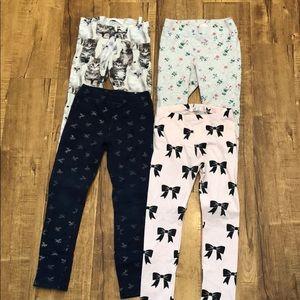 5 item lot. 4 leggings plus 1 pair of sweatpants